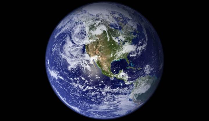 Imagem do planeta Terra, se um dia parar de girar