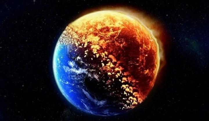 Ilustração da Terra quando parar de girar