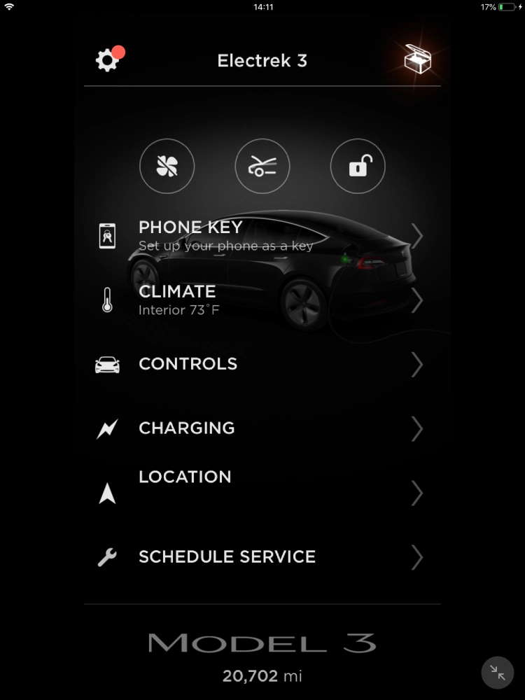 Tesla software carro emprestar elétrico