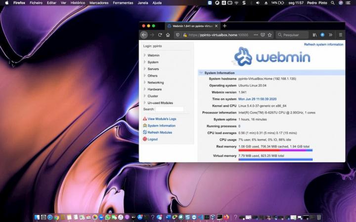 Ubuntu 20.04 instalado? Gerir todo o sistema no browser com o Webmin
