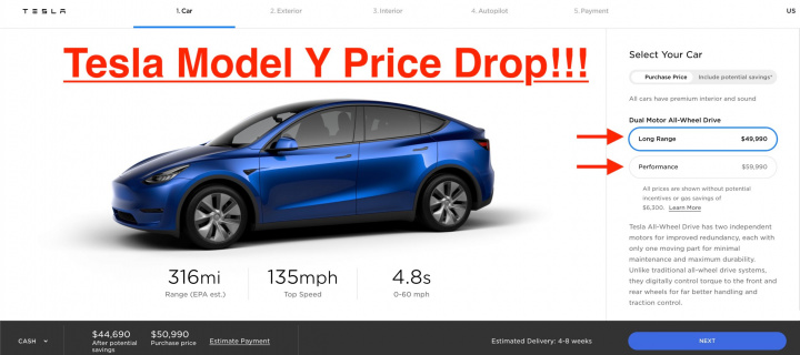 Want to buy a Tesla Model Y?  Car dropped in price ...
