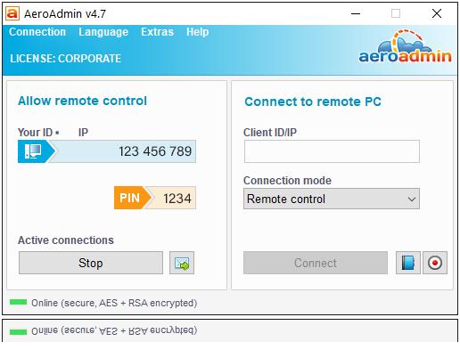 AeroAdmin torna possível o acesso remoto ao PC sem instalação nem configurações