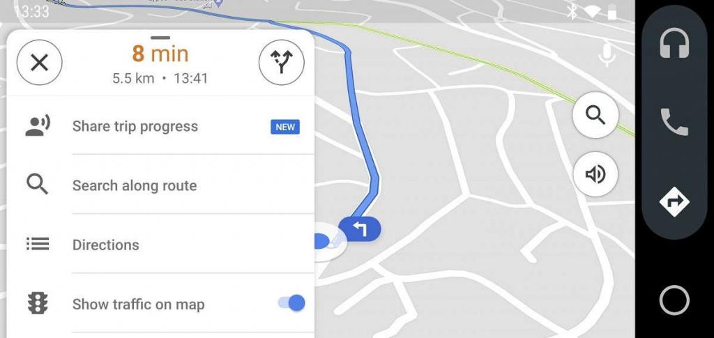 Google Maps Android Auto smartphone