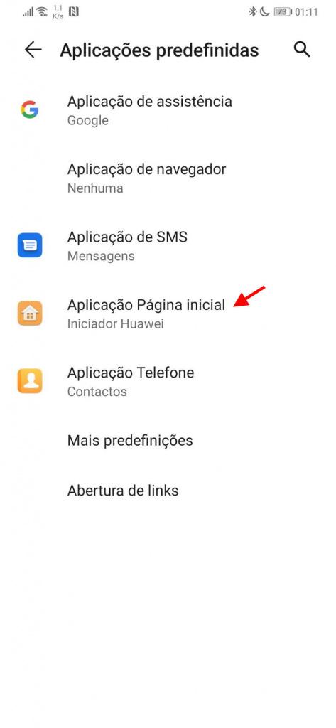 Android apps predefinidas utilizadores mudar