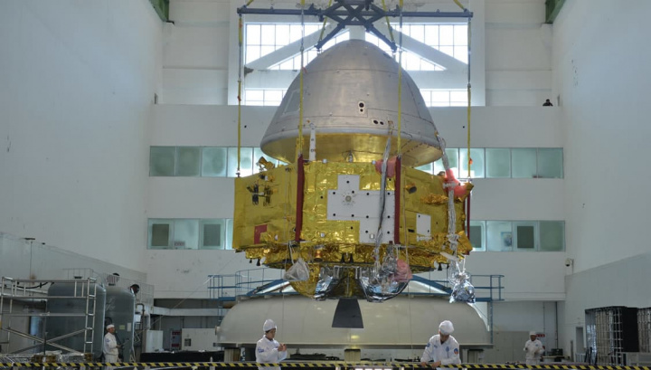 Imagem do foguetão da China que leva a sonda Tianwen-1 até Marte