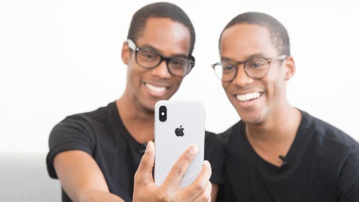 Imagem gémeos que ultrapassam a segurança do Face ID da Apple