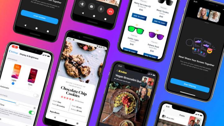 Messenger Facebook partilhar ecrã Android