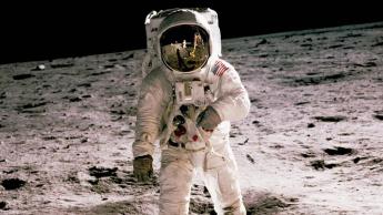 Imagem da NASA do primeiro homem na lua
