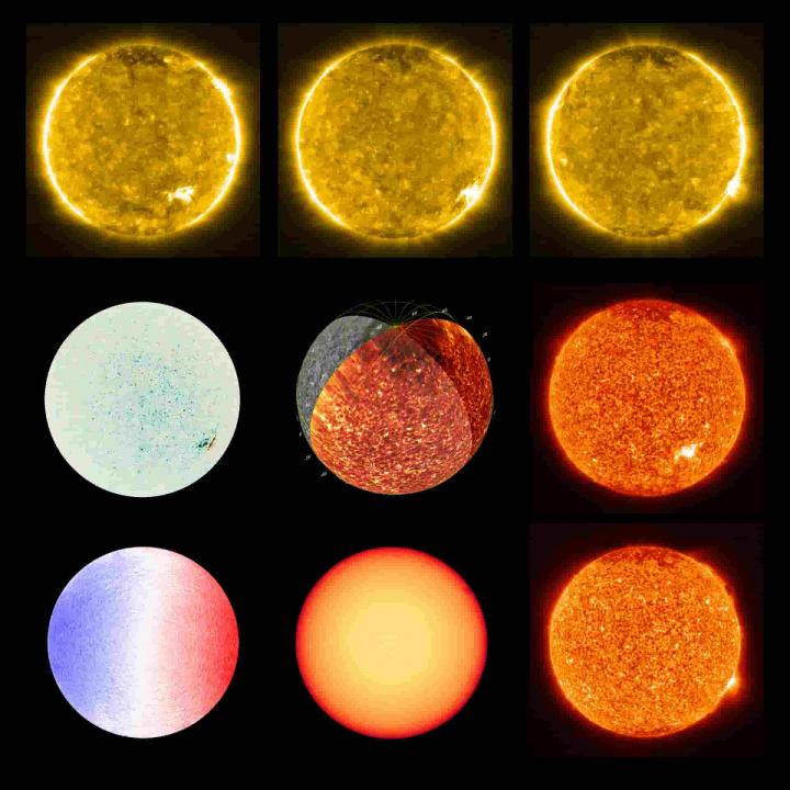 Vários faces do Sol, pelo Solar Orbiter.