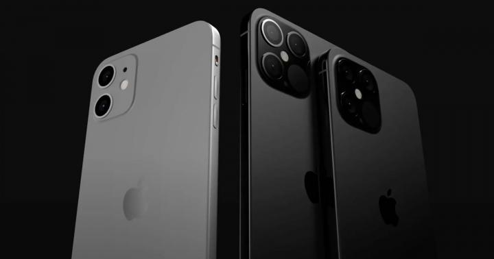 Imagem de iphone 12 com vários tamanhos de bateria e com vários carregadores