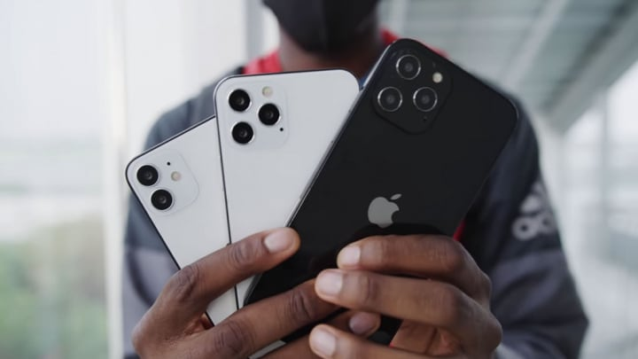 IPhone 12 image represented in models