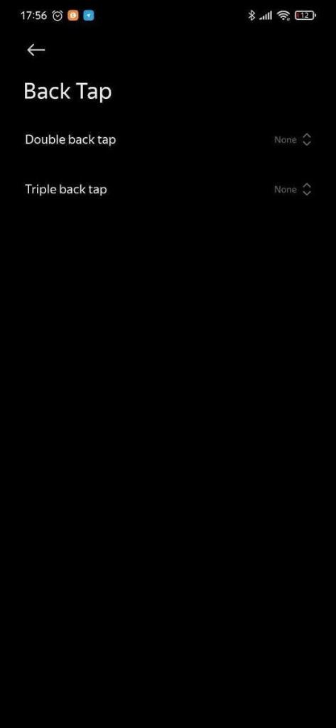 MIUI 12 Xiaomi smartphones toques traseira