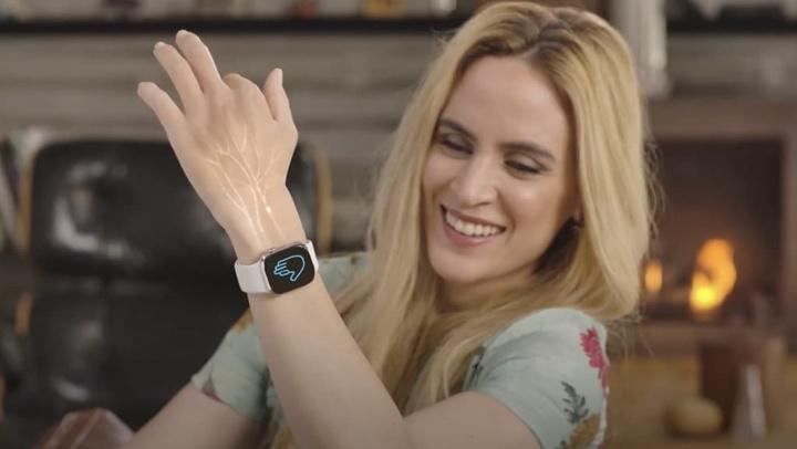 Imagem da banda Mudra que adiciona gestos ao Apple Watch