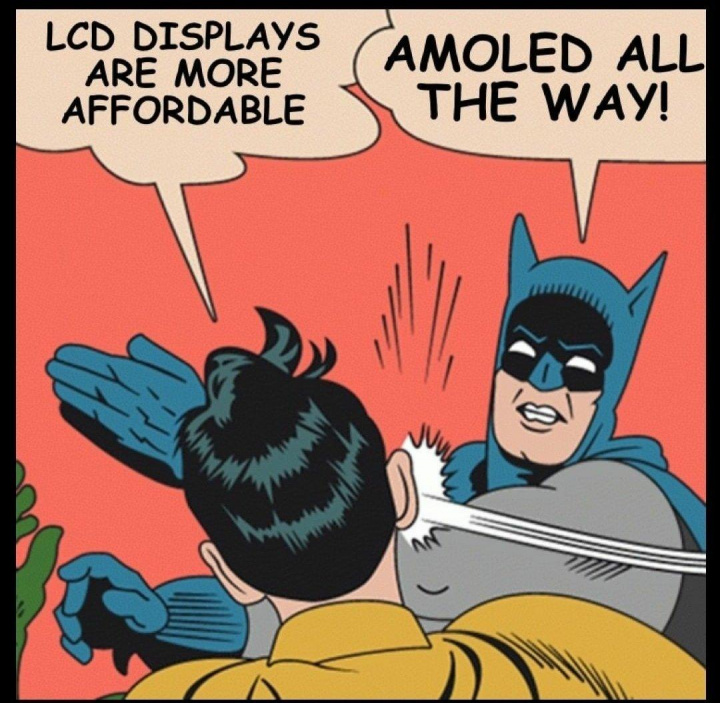 Ontem revelou finalmente que o ecrã seria AMOLED através de um meme conhecido da Internet.
