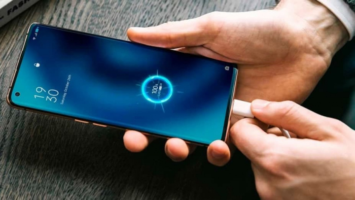 Imagem OPPO super carregamento 150W para smartphones