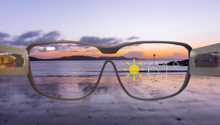 Imagem conceito de óculos da Apple