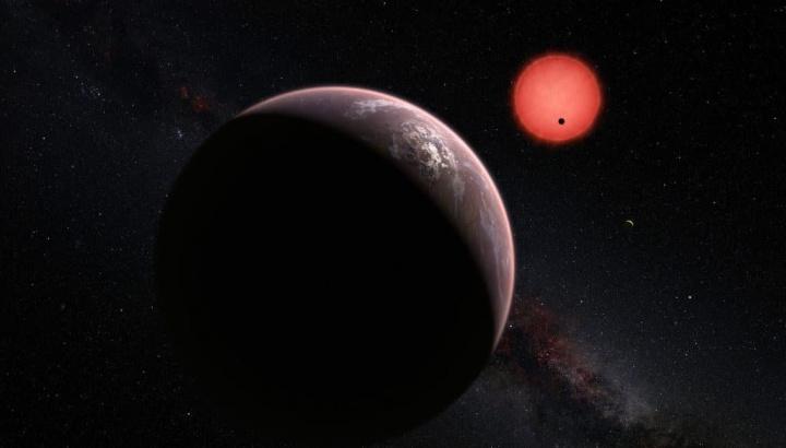 Ilustração da superterra GJ 273b que poderá albergar vida