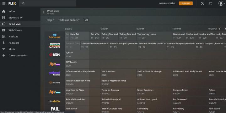 TV à Borla? O Plex agora disponibiliza mais de 80 canais gratuitamente