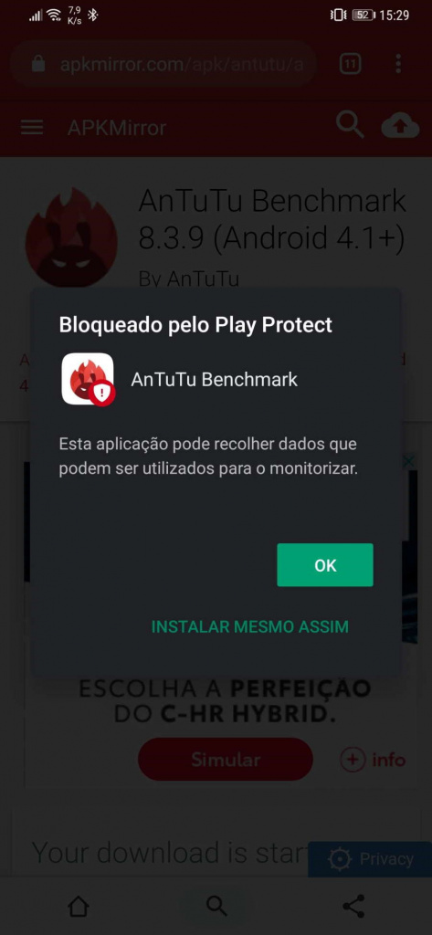 Antutu Google Android app Play Protect