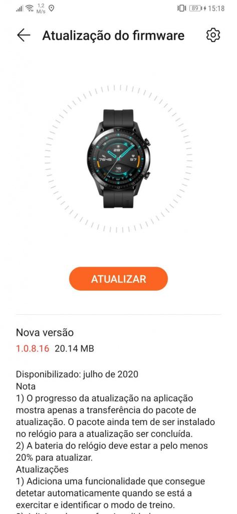 Huawei Watch GT2 relógio smartwatch atividade física