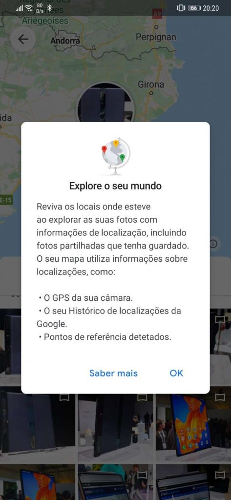 Google Photos mapa fotografias utilizadores