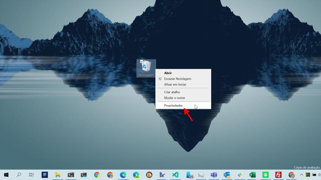 Windows 10 Reciclagem ficheiros apagar eliminar