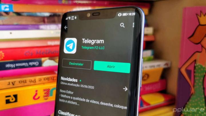 Telegram mensagens serviço app escrita