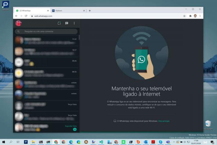 WhatsApp Dark Mode web app desktop