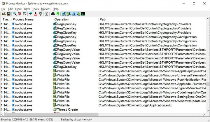 ProcMon Linux Microsoft Windows app