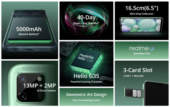 realme C11, um novo smartphone de entrada de gama