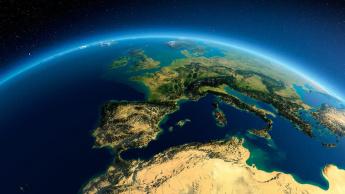 Ilustração da Terra em silêncio provocado pela COVID-19