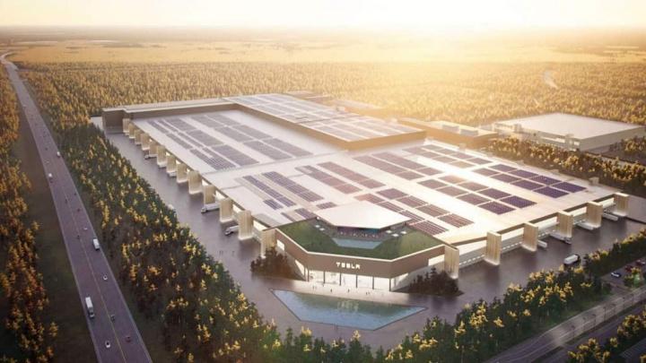Projeto Gigafactory Berlin da Tesla.