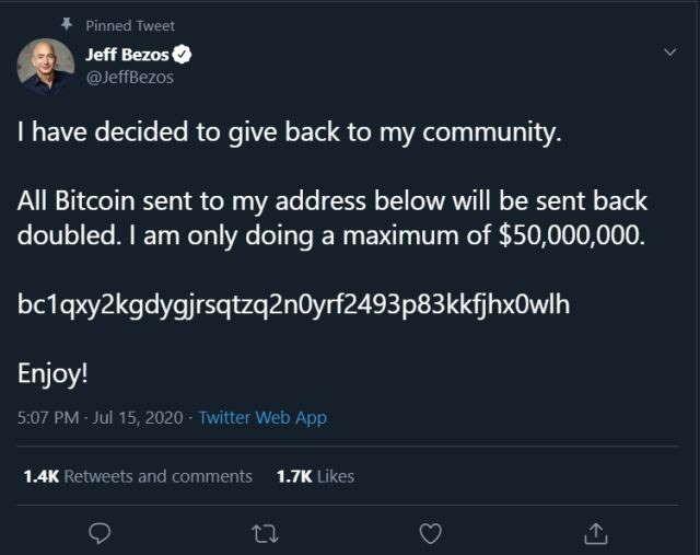 Twitter contas criptomoedas mensagens