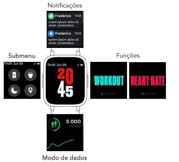 Smartwatch Ubiq HR: O relógio inteligente e barato com bateria para 12 dias