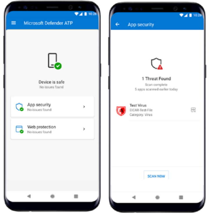 Android Windows Defender segurança proteger