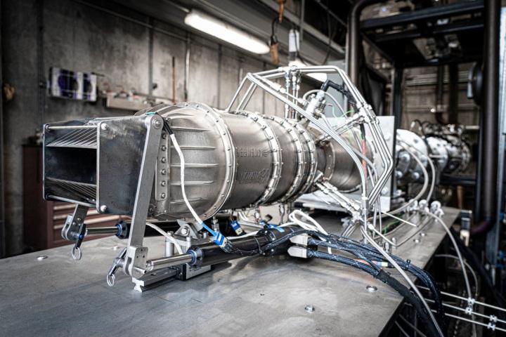 Imagem do novo motor da Hermeus para voos hipersónicos