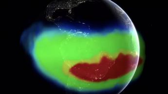 Imagem da Anomalia do campo magnético da Terra