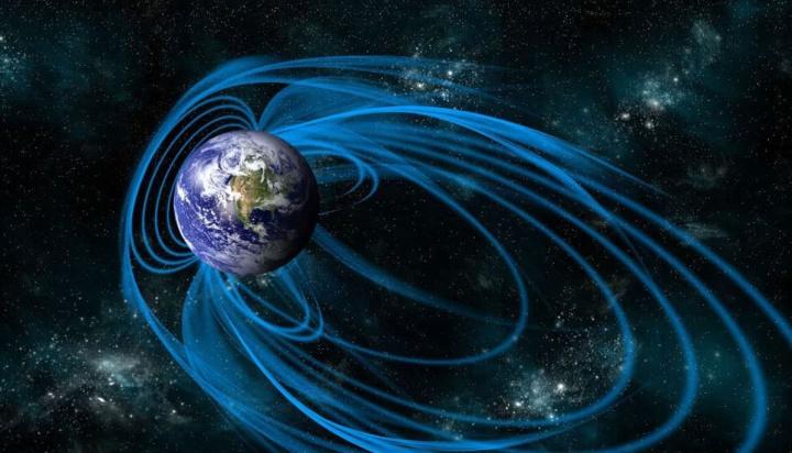 Ilustração do campo magnético do nosso planeta pelos olhos da NASA
