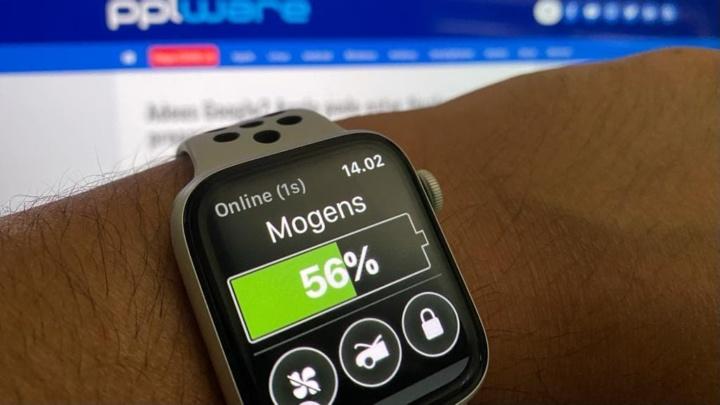 Imagem app Tesla no Apple Watch
