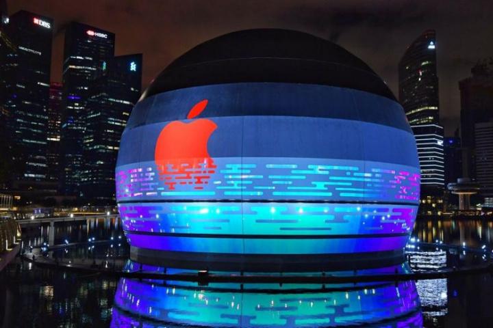 Singapura prepara-se para receber a primeira loja flutuante da Apple - PHOTO: CHONG JUN LIANG
