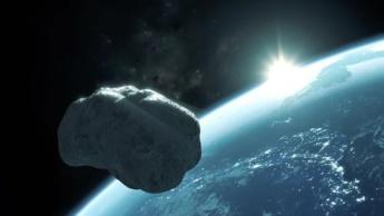 Ilustração asteroide a caminho da Terra
