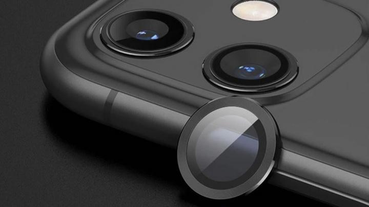 Ilustração de uma lente para câmara iPhone 12