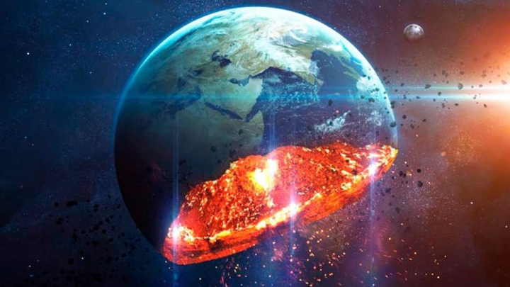 Ilustração da Terra no fim do universo, segundo Matt Caplan