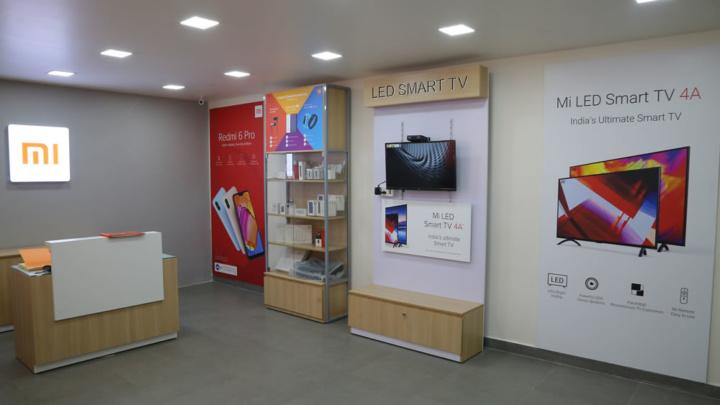 Imagem interior da Mi Store da Índia