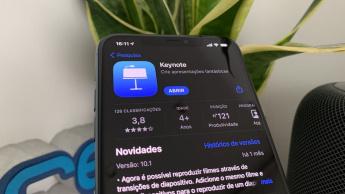 Imagem iPhopne com a app Keynote da Apple