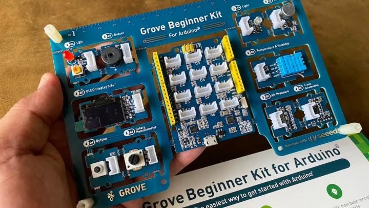 Imagem do Kit de iniciação Grove de Arduino