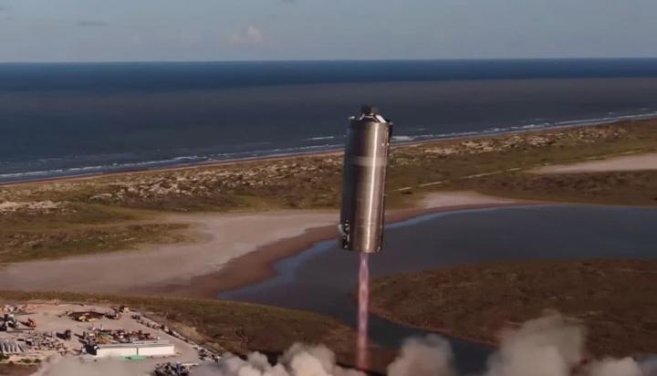 Imagem nave espacial da SpaceX, um protótipo que já voa