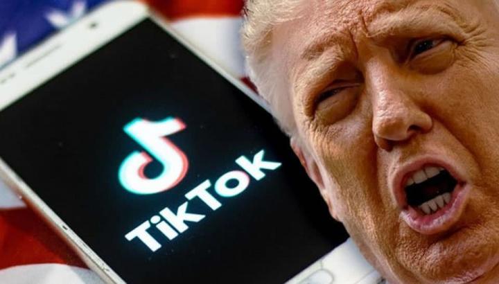 Imagem Trump e TikTok