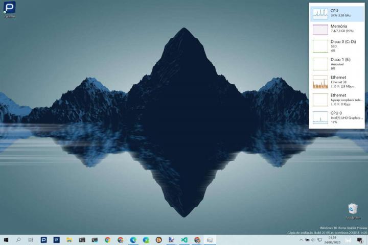 Windows 10 desempenho monitorizar Gestor Tarefas