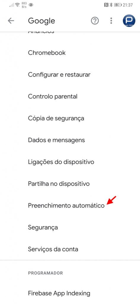 passwords Android biometria Google segurança